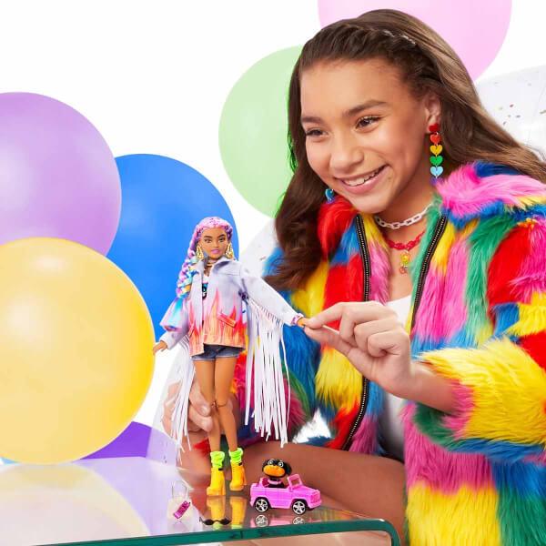 Barbie Extra Rengarenk Saçlar Bebeği GRN29