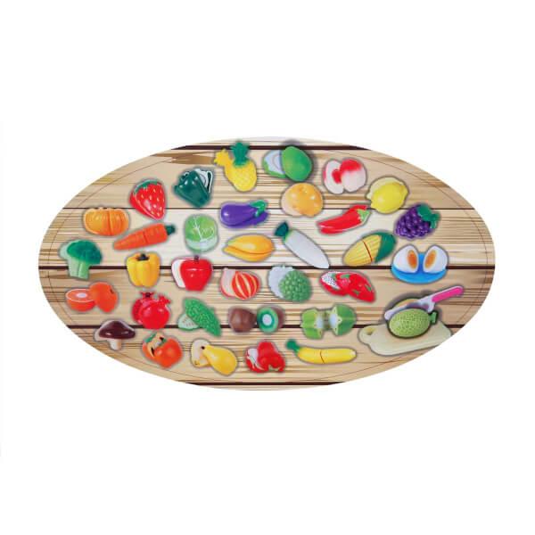 Sebze ve Meyve Kesme Tahtalı Oyun Seti