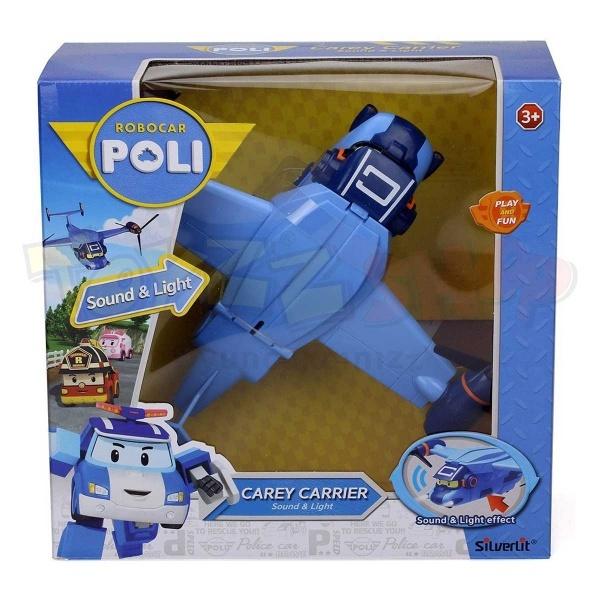 Robocar Poli Sesli ve Işıklı Kargo Uçağı