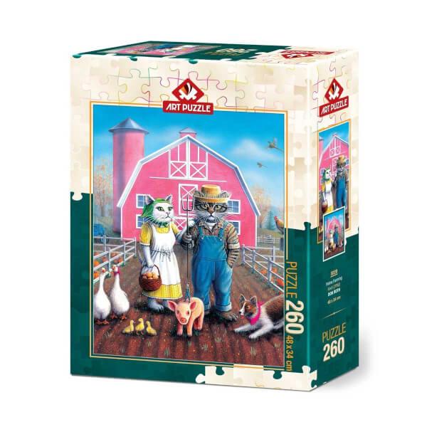 260 Parça Puzzle : Kedi Çiftliği