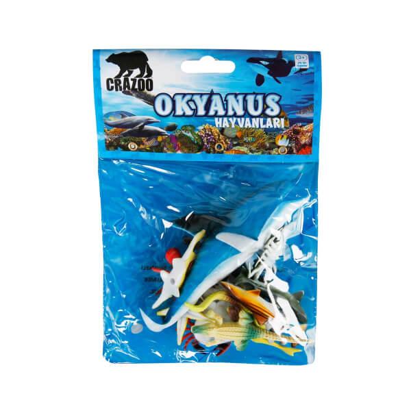 Okyanus Hayvanları Poşetli Hayvan Oyun Seti