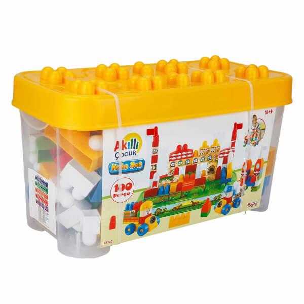 Akıllı Çocuk Sevimli Kale Seti 100 Parça