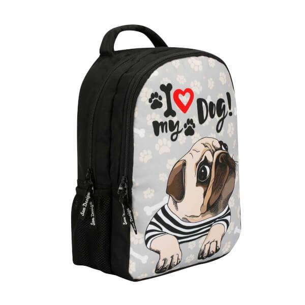 Köpek Desenli Okul Çantası 9019
