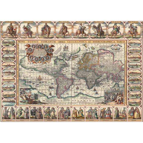 1000 Parça Puzzle : Eski Dünya Haritası