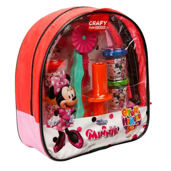 Crafy Minnie Sırt Çantalı Oyun Hamuru Seti 200 gr. 18 Parça