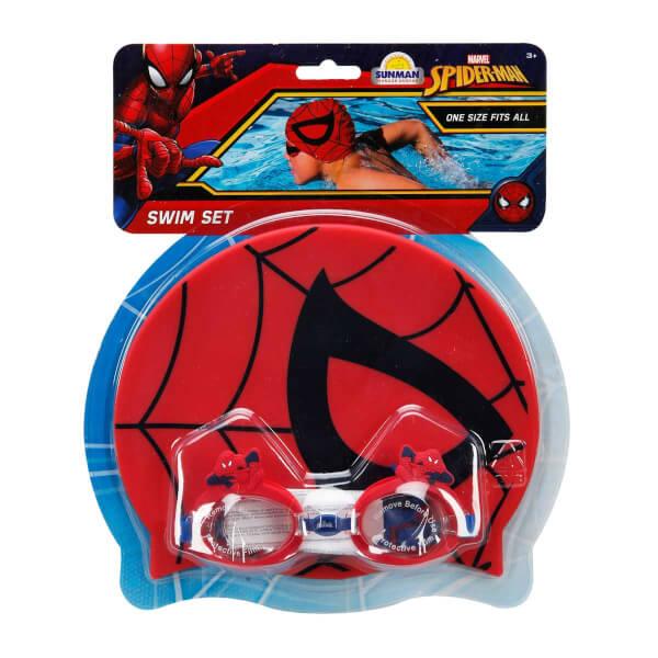 Spiderman Bone ve Deniz Gözlüğü Yüzme Seti