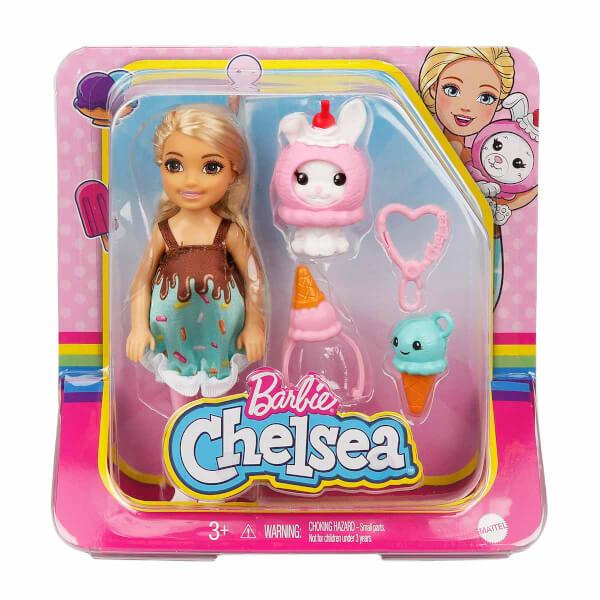 Barbie Kostümlü Chelsea ve Hayvancığı Oyun Setleri GHV69