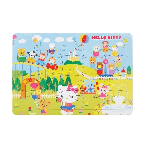 20 Parça Puzzle : Hello Kitty Lunaparkta