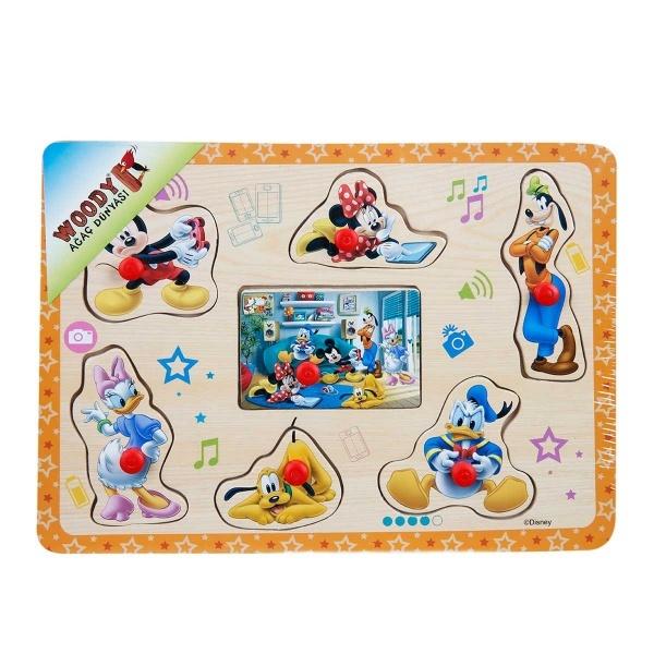 Mickey Mouse Ahşap Tutmalı Puzzle