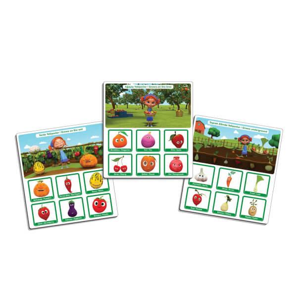Elif'in Düşleri Sebzeleri ve Meyveleri Öğreniyorum Oyun Kartı