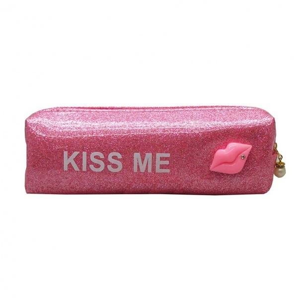 Kiss Me Simli Kalem Kutusu