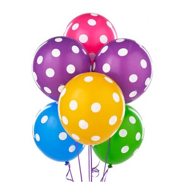 Puantiye Baskılı Balon 14'lü