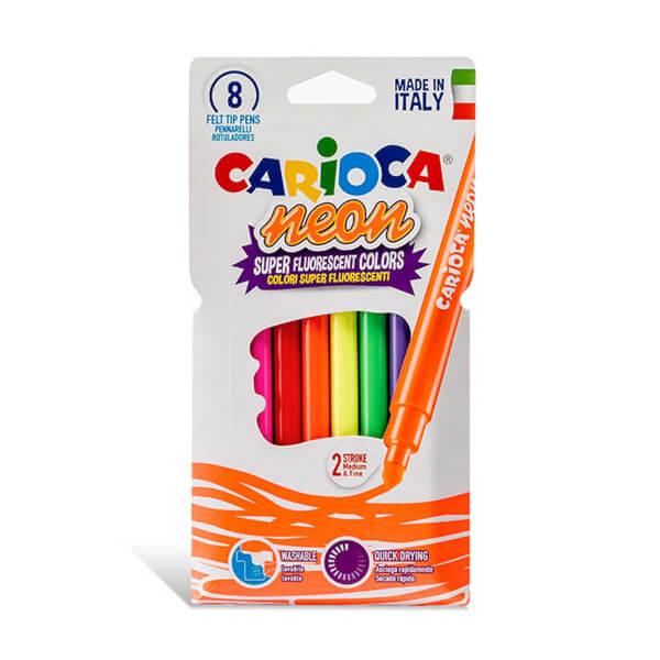 Carioca Neon Yıkanabilir Keçeli Boya Kalemi 8'li