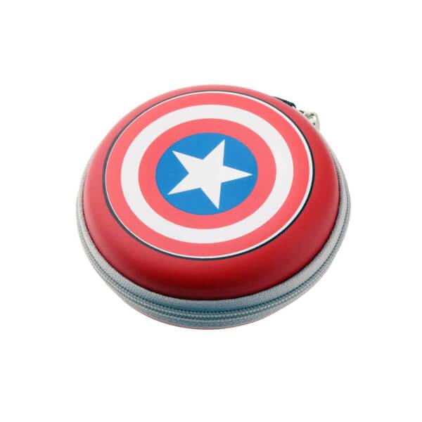 Marvel Avengers Captain America Kulak İçi Kulaklık Çantalı