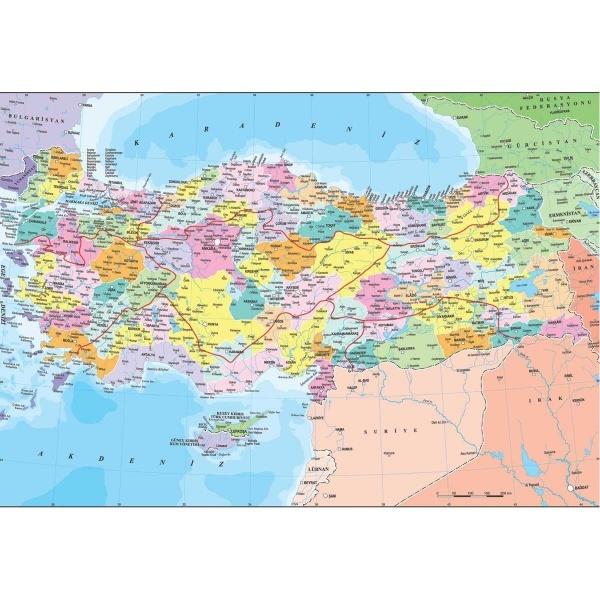 260 Parça Puzzle : Türkiye Siyasi Haritası