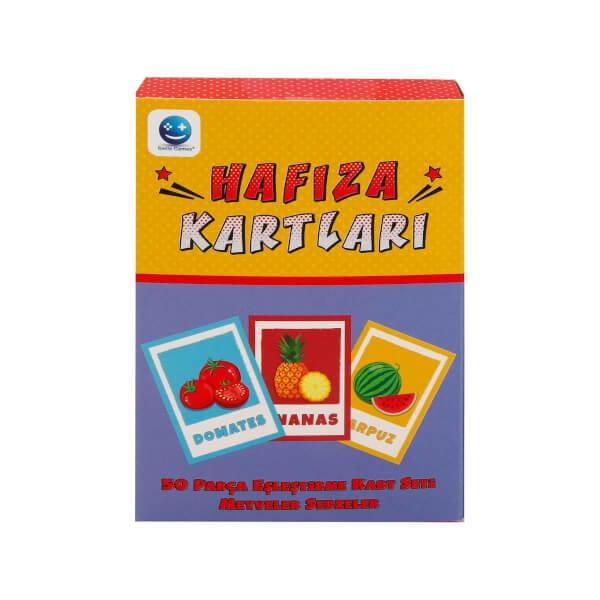 Hafıza Kartları Meyveler ve Sebzeler 50 Parça