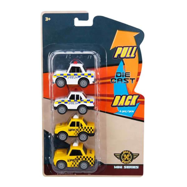 Maxx Wheels 4'lü Model Arabalar 6 cm.
