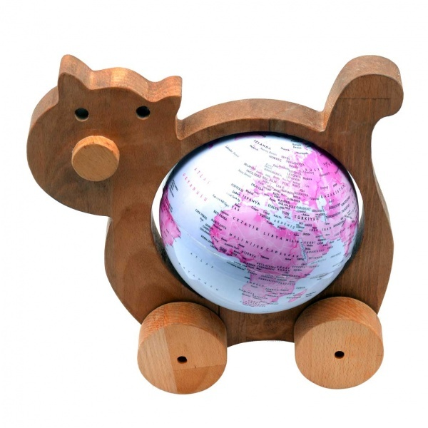 Ahşap Kedi Küre