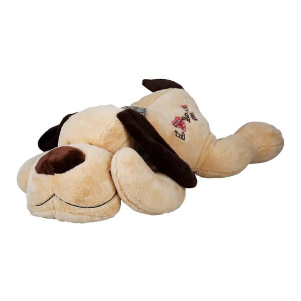 Yatan Papyonlu Peluş Köpek 100 Cm.