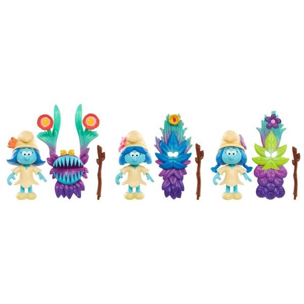 Şirinler Kayıp Köy Kostümlü 3'lü Figür