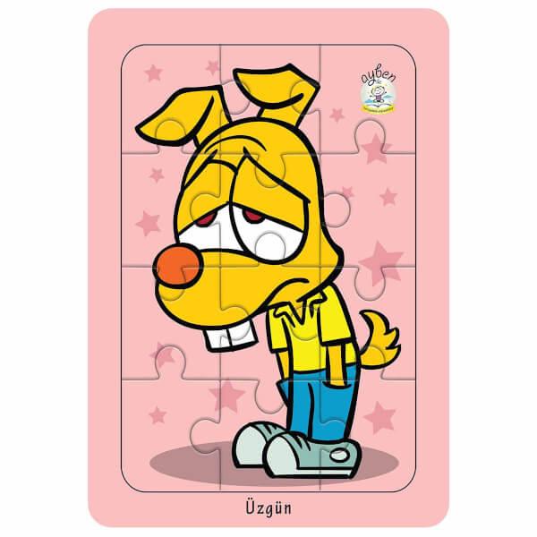 12 Parça Puzzle: Duygunu Yap - Üzgün