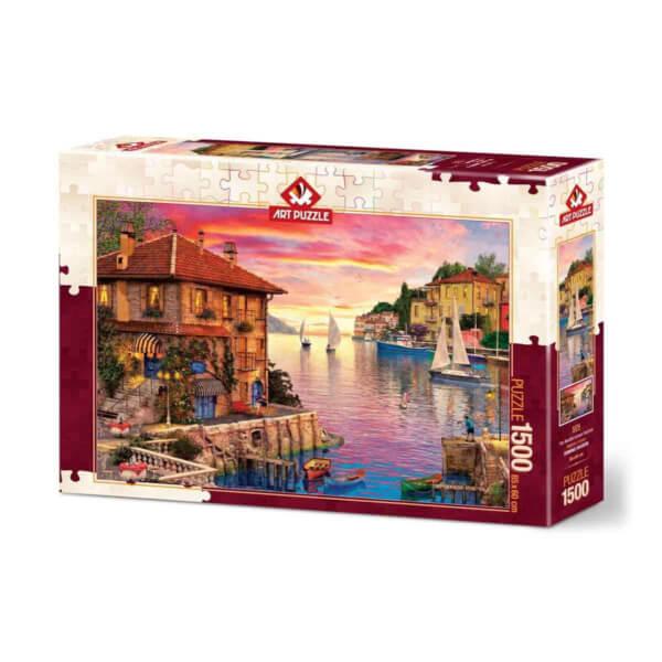 1500 Parça Puzzle : Akdeniz Limanı