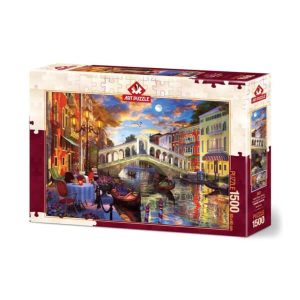 1500 Parça Puzzle : Rialto Köprüsü, Venedik