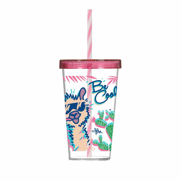 Be Cool Desenli Pipetli Bardak 660 ml.