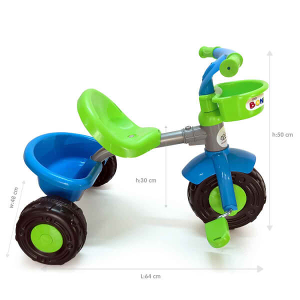 Boni Bike 3 Tekerlekli Yeşil Bisiklet 93390