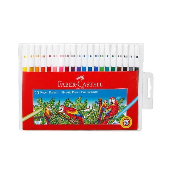 Faber Castell 20 Renk Keçeli Kalem