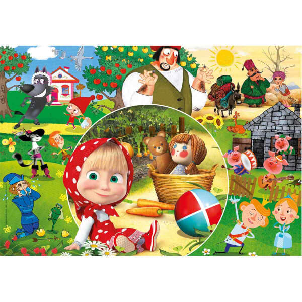 60 Parça Maxi Puzzle : Masha and the Bear
