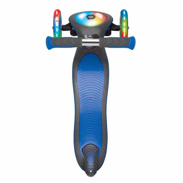 Globber Master 3 Tekerlekli Işıklı Katlanabilir Lacivert Scooter