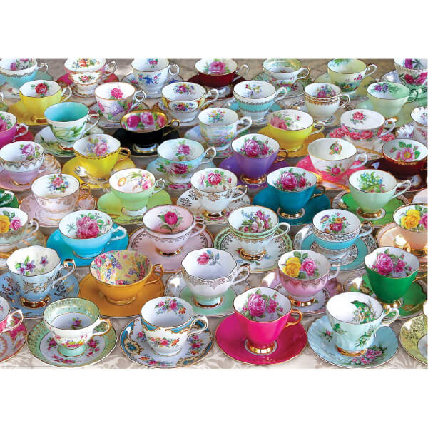 1000 Parça Puzzle : Tea Cup Collection