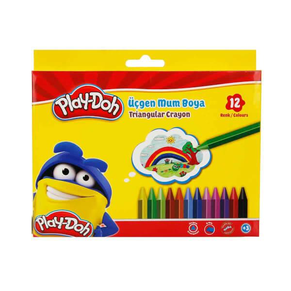 Play Doh Üçgen Mum Boya 12 Renk