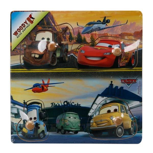 Cars Ahşap Tutmalı Puzzle 4 Parça