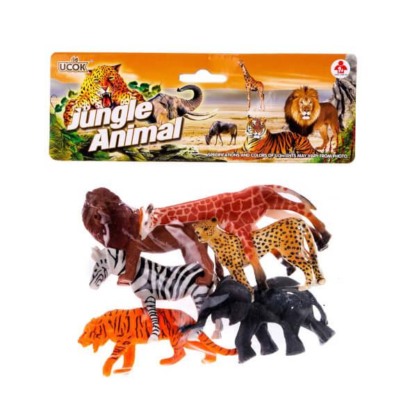 Vahşi Hayvan Figürleri 6'lı Poşetli Oyun Seti