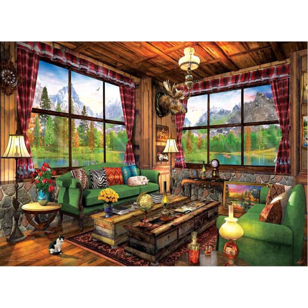 1000 Parça Puzzle : Cozy Cabin - Dominic Davidson