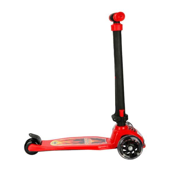 Pilsan Power 3 Tekerlekli Işıklı Scooter Kırmızı