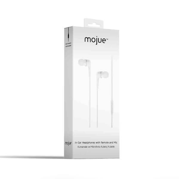 Mojue WE01 Kumandalı ve Mikrofonlu Kulak İçi Kulaklık Beyaz